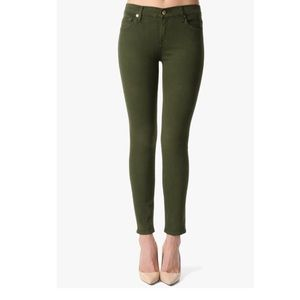 7 For All Mankind HW Ankle Skinny in Olive Green